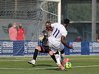 Isaac Tshibangu (11) of Anderlecht  has an attempt on goal during a friendly soccer game between K Londerzeel SK and RSC Anderlecht Reserves during the preparations for the 2021-2022 season , on Wednesday 21st of July 2021 in Londerzeel , Belgium . PHOTO SEVIL OKTEM | SPORTPIX
