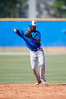 Toronto Blue Jays Samad Taylor (48) during a Minor League Spring Training game against the New York Yankees on March 18, 2018 at the Englebert Complex in Dunedin, Florida.  (Mike Janes/Four Seam Images)