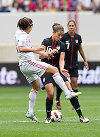 Carli Lloyd, Tania Morales. The USWNT defeated Mexico, 1-0, during the game at Red Bull Arena in Harrison, NJ.