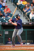 Lehigh Valley IronPigs designated hitter Darin Ruf (28) at bat during a game against the Buffalo Bisons on July 9, 2016 at Coca-Cola Field in Buffalo, New York.  Lehigh Valley defeated Buffalo 9-1 in a rain shortened game.  (Mike Janes/Four Seam Images)