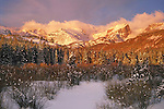 From John's 4th book. Hallett Peak in Rocky Mountain National Park at sunrise. <br /> Outside Imagery offers Rocky Mountain National Park photo tours and hikes. Year-round Colorado tours.