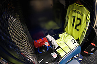 Houston, TX - Tuesday June 21, 2016: United States locker room prior to a Copa America Centenario semifinal match between United States (USA) and Argentina (ARG) at NRG Stadium.