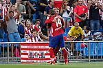 Atletico de Madrid´s Griezmann celebrates a goal against Las Palmas during 2015-16 La Liga match at Vicente Calderon stadium in Madrid, Spain. MONTH XX, 2015. (ALTERPHOTOS/Victor Blanco)