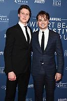 George Mackay and Dean Charles Chapman<br /> arriving for the Newport Beach Film Festival UK Honours 2020, London.<br /> <br /> ©Ash Knotek  D3551 29/01/2020