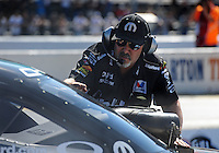 Jul. 29, 2011; Sonoma, CA, USA; NHRA funny car crew chief Tommy DeLago for driver Matt Hagan (not pictured) during qualifying for the Fram Autolite Nationals at Infineon Raceway. Mandatory Credit: Mark J. Rebilas-