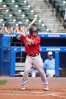 Worcester Red Sox Tate Matheny (35) bats during a game against the Buffalo Bisons on August 29, 2021 at Sahlen Field in Buffalo, New York.  (Mike Janes/Four Seam Images)