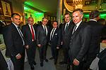 04.02.2019, Dorint Park Hotel Bremen, Bremen, GER, 1.FBL, 120 Jahre SV Werder Bremen - Gala-Dinner<br /> <br /> im Bild<br />  Prominenz beim Dinner<br /> <br /> v.li<br /> Klaus Filbry (Vorsitzender der Geschäftsführung / Kaufmännischer Geschäftsführer SV Werder Bremen)<br /> Ulrich Mäurer, Innensenator des Bundeslandes Bremen<br /> Carsten Sieling ist ein deutscher Politiker. Er ist seit dem 15. Juli 2015 Präsident des Senats und Bürgermeister der Freien Hansestadt Bremen sowie Senator für Angelegenheiten der Religionsgemeinschaften und Senator für Kultur.<br /> Dr. Hubertus Hess-Grunewald (Geschäftsführer Organisation & Sport SV Werder Bremen)<br /> Reinhard Grindel (DFB Präsident)<br /> Frank Baumann (Geschäftsführer Fußball Werder Bremen)<br /> <br /> Der Fussballverein SV Werder Bremen feiert am heutigen 04. Februar 2019 sein 120-jähriges Bestehen. Im Park Hotel Bremen findet anläßlich des Jubiläums ein Galadinner statt. <br /> <br /> Foto © nordphoto / Rosepk