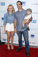 LOS ANGELES, CA, USA - APRIL 27: Julie Solomon, Johnathon Schaech, Camden Quinn Schaech at the Milk + Bookies 5th Annual Story Time Celebration held at the Skirball Cultural Center on April 27, 2014 in Los Angeles, California, United States. (Photo by Xavier Collin/Celebrity Monitor)