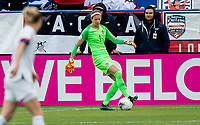 CARSON, CA - FEBRUARY 9: Stephanie Labbe #1 GK of Canada moves with the ball during a game between Canada and USWNT at Dignity Health Sports Park on February 9, 2020 in Carson, California.