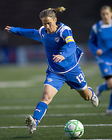 Boston Breakers midfielder-forward Kristine Lilly (13). The Boston Breakers defeated Saint Louis Athletica, 2-0, at Harvard Stadium on April 11, 2009.