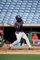 New York Yankees Sincere Smith (10) at bat during a Florida Instructional League game against the Philadelphia Phillies on October 12, 2018 at Spectrum Field in Clearwater, Florida.  (Mike Janes/Four Seam Images)