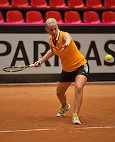 The Netherlands, Den Bosch, 16.04.2014. Fed Cup Netherlands-Japan, training, Richel Hogenkamp (NED)<br /> Photo:Tennisimages/Henk Koster