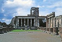 Italy: Pompeii--The Basilica, 120 B.C. (?)  Photo '82.