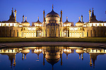 Great Britain, England, East Sussex, Brighton: Nightshot of the Pavilion built in the early 19th Century as a seaside retreat for the then Prince Regent