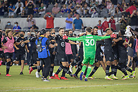 LOS ANGELES, CA - AUGUST 25: The MLS All Stars team celebrating during the MLS All Star Game between the MLS All Stars and the Liga MX All Stars at the Banc of California Stadium on August 25, 2021 in Los Angeles, California during a game between Liga MX All Stars and MLS All Stars at Banc of California Stadium on August 25, 2021 in Los Angeles, California.