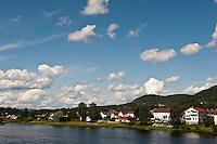 Norwegen, bei Oslo, Fluss Dommenselva bei Hokksund