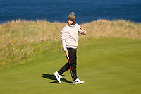 1st October 2021; Kingsbarns Golf Links, Fife, Scotland; European Tour, Alfred Dunhill Links Championship, Second round; Tommy Fleetwood of England on the fairway of the seventh hole at Kingsbarns Golf Links