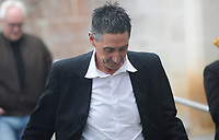 "Pictured: Anthony Mallon leaves Swansea Crown Court.<br /> Re: A long-running neighbourly dispute saw one man attack another with a JCB digger, Swansea Crown court has heard.<br /> The alleged victim was trapped against a wall by the earth-mover during the incident, and said he ""feared for his life"".<br /> The Court heard the dispute between neighbours Bobby Vijay and Tony Mallon had rumbled on for more than a decade, with both parties making numerous calls to police in that time.<br /> The men owned neighbouring plots of land in Glanamman, Carmarthenshire and the conflict between the pair revolved around the issue of a right of way, the court heard.<br /> Mallon, 55, denies assault occasioning actual bodily harm, and a racially aggravated public order matter which relates to a separate incident between the men some 10 months later when he is said to have called Mr Vijay ""a black boy""."