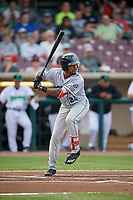 Cedar Rapids Kernels right fielder Jaylin Davis (24) at bat during a game against the Dayton Dragons on May 10, 2017 at Fifth Third Field in Dayton, Ohio.  Cedar Rapids defeated Dayton 6-5 in ten innings.  (Mike Janes/Four Seam Images)