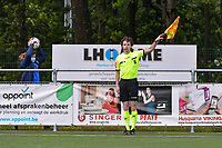 assistant referee Maarten Linart pictured during a female soccer game between Sporting Charleroi and Eendracht Aalst on the 8th matchday in play off 2 of the 2020 - 2021 season of Belgian Scooore Womens Super League , tuesday 18 th of May 2021 in Marcinelle , Belgium . PHOTO SPORTPIX.BE | SPP | STIJN AUDOOREN