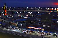 28-31 January, 2016, Daytona Beach, Florida USA<br /> Cars make pit stops during the night.<br /> ©2016, F. Peirce Williams