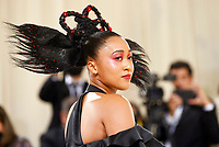 """Naomi Osaka attends The Metropolitan Museum of Art's Costume Institute benefit gala celebrating the opening of the """"In America: A Lexicon of Fashion"""" exhibition on Monday, Sept. 13, 2021, in New York. (Photo by Evan Agostini/Invision/AP)"""