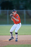 Gunnar Henderson during the WWBA World Championship at the Roger Dean Complex on October 18, 2018 in Jupiter, Florida.  Gunnar Henderson is a shortstop from Selma, Alabama who attends John T. Morgan Academy and is committed to Auburn.  (Mike Janes/Four Seam Images)