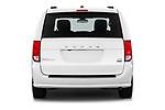 Straight rear view of 2019 Dodge Grand-Caravan GT 5 Door Minivan Rear View  stock images