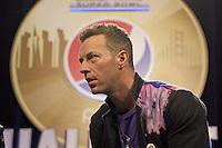 Coldplay Sänger Chris Martin - Super Bowl 50 Halbzeitshow PK, Moscone Center San Francisco