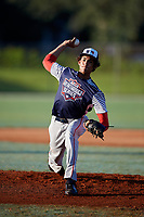 DJ Jefferson during the WWBA World Championship at the Roger Dean Complex on October 21, 2018 in Jupiter, Florida.  DJ Jefferson is a right handed pitcher from Las Vegas, Nevada who attends Desert Oasis High School and is committed to Southern California.  (Mike Janes/Four Seam Images)
