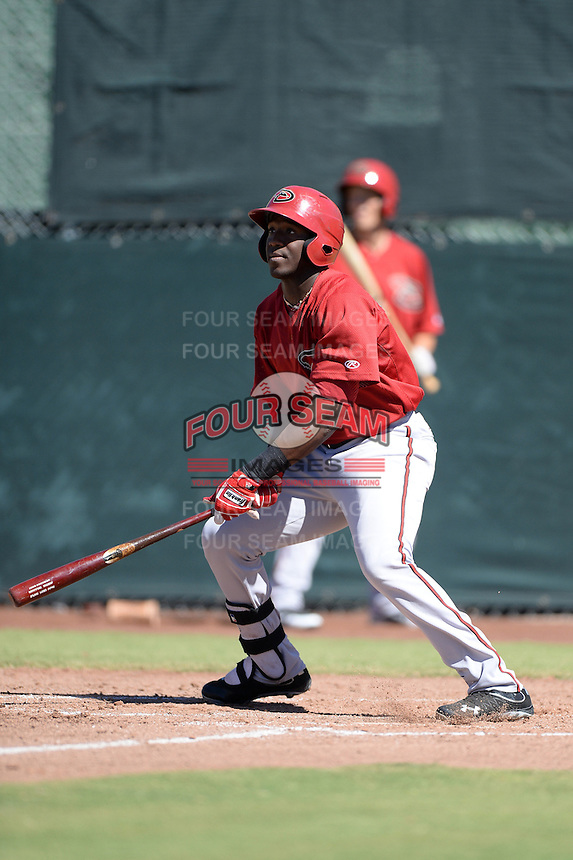 Arizona Diamondbacks outfielder Justin WIlliams (19) during an instructional league game against the San Francisco Giants on October 3, 2013 at Giants Baseball Complex in Scottsdale, Arizona.  (Mike Janes/Four Seam Images)