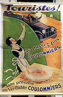 Europe/France/Ile-de-France/77/Seine-et-Marne/Coulommiers : Vieille affiche de promotion du fromage de Coulommiers