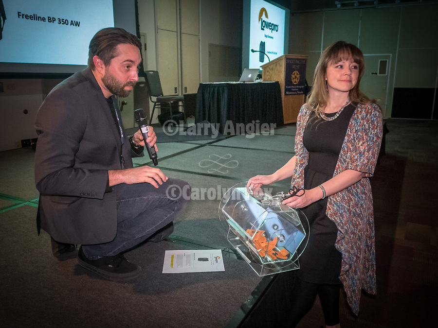 Rachid and Michelle pick winners during the Friday symposium at STW XXXI, Winnemucca, Nevada, April 12, 2019.<br /> .<br /> .<br /> .<br /> .<br /> @shootingthewest, @winnemuccanevada, #ShootingTheWest, @winnemuccaconventioncenter, #WinnemuccaNevada, #STWXXXI, #NevadaPhotographyExperience, #WCVA