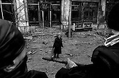 Grozny, Chechyna.1995.Interior ministry troops move around Grozny on their armoured perseonel carriers.