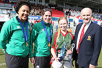 GIRLS SCHOOLS FINAL | Tuesday 24th March 2015<br /> <br /> Match action during the Ulster Girls Schools Cup Final between Enniskillen and Victoria College Belfast  at the Kingspan Stadium, Ravenhill Park, Belfast.<br /> <br /> Picture credit: John Dickson / DICKSONDIGITAL