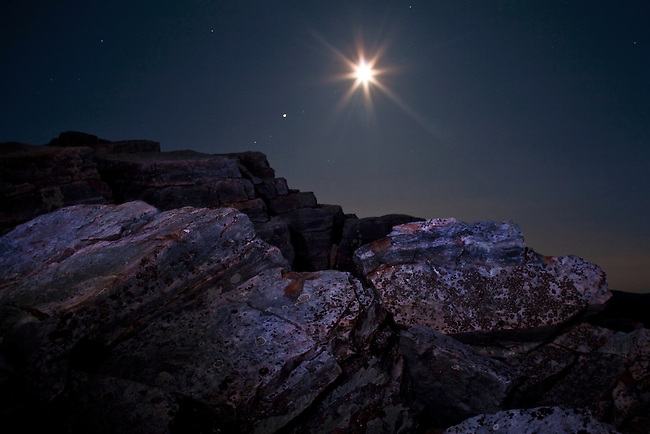 Moonrise at Blackrock Summit, Shenandoah National Park
