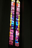 Stained glass window at Guildford Cathedral..