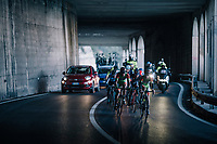 yet another tunnel for the breakaway group on their way to the finale<br /> <br /> 109th Milano-Sanremo 2018<br /> Milano > Sanremo (291km)