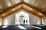 SOUTHBURY CT. 29 December 2017-122917SV01-Rev. Scott Nessel checks out the renovation and addition at St. James Church in Southbury Friday.<br /> Steven Valenti Republican-American