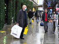 Last minute christmas shopping in London's Oxford Street and Regent Street on the eve of being plunged into Tier 4 lockdown with all non-essential retail stores set to close. London on December 19th 2020<br /> <br /> Photo by Keith Mayhew