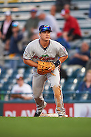 Fort Myers Miracle first baseman Trey Vavra (33) during a game against the Bradenton Marauders on April 9, 2016 at McKechnie Field in Bradenton, Florida.  Fort Myers defeated Bradenton 5-1.  (Mike Janes/Four Seam Images)