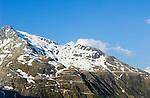 Switzerland, Canton Valais, view at Furka Pass Road