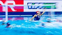 1 GRE DIAMANTOPOULOU Chrysoula Greece<br />  <br /> Budapest 15/01/2020 Duna Arena <br /> Greece (white caps) Vs. Slovakia (blue caps) Women<br /> XXXIV LEN European Water Polo Championships 2020<br /> Photo  ©Giorgio Scala / Deepbluemedia / Insidefoto