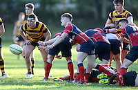 Saturday 4th February 2017 | RBAI vs BALLYCLARE HIGH SCHOOL<br /> <br /> Jake McVicker during the Ulster Schools' Cup clash between RBAI and Ballyclare High School at  Cranmore Park, Belfast, Northern Ireland.<br /> <br /> Photograph by www.dicksondigital.com