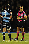 Referee Lloyd Linton during the game<br /> Guiness Pro12<br /> Cardiff Blue v Connacht<br /> BT Sport Cardiff Arms Park<br /> 06.03.15<br /> ©Ian Cook -SPORTINGWALES
