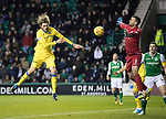 Hibs v St Johnstone…18.11.17…  Easter Road…  SPFL<br />Murray Davidson scores saints first goal<br />Picture by Graeme Hart. <br />Copyright Perthshire Picture Agency<br />Tel: 01738 623350  Mobile: 07990 594431
