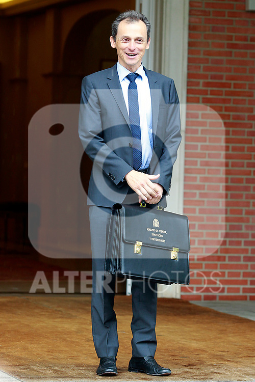 Pedro Duque, Minister of Science, Innovation and Universities, arrives at the first Council of Ministers of the new Government of Spain, chaired by Pedro Sanchez. June 8,2018. (ALTERPHOTOS/Acero)