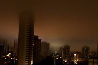 Madrugada de chuvas e neblina na capital do Pará.