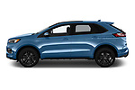 Car driver side profile view of a 2019 Ford Edge ST 5 Door SUV