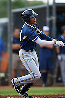 Milwaukee Brewers Gilbert Lara (24) during an instructional league game against the San Diego Padres on October 6, 2015 at the Peoria Sports Complex in Peoria, Arizona.  (Mike Janes/Four Seam Images)